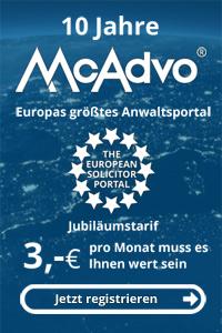 McAdvo Jubiläumstarif